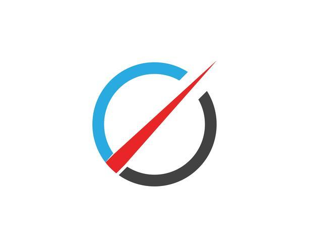 più veloce logo in flash e icone simboli modello app vettore