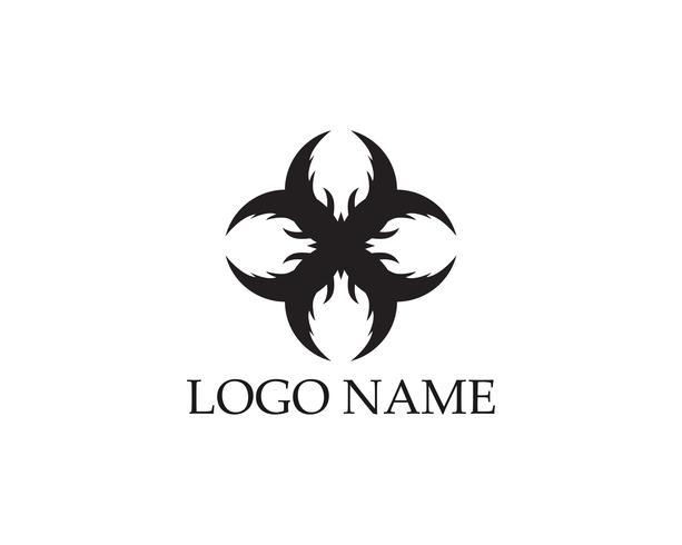 Modello di progettazione di logo astratto di affari vettore