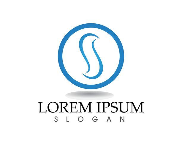 S lettere Business aziendale logo design vettoriale
