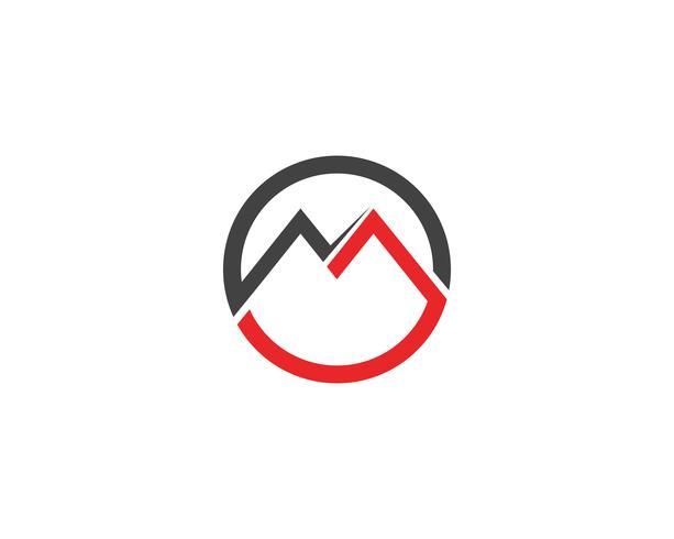 Icone di vettore di logo M tali icone del modello