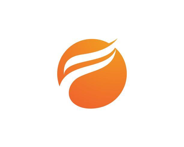Fuoco fiamma natura logo e simboli icone modello .. vettore