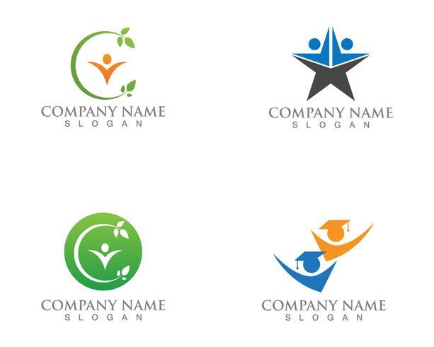 Progettazione dell'illustrazione dell'icona di vettore di Success Business di logo della gente della stella