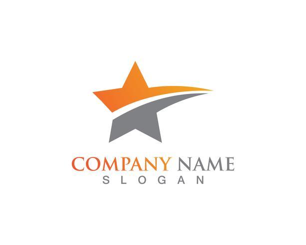 Progettazione dell'illustrazione dell'icona di vettore del modello di simboli e di logo della stella
