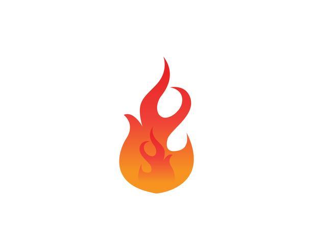 Icone del modello di logo e simboli del fuoco app vettore