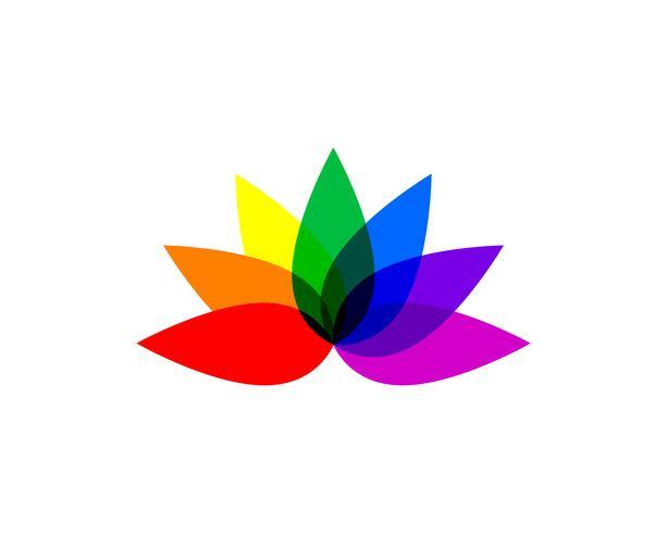 Lotus Flower Sign per Wellness, Spa e Yoga. Illustrazione vettoriale ..