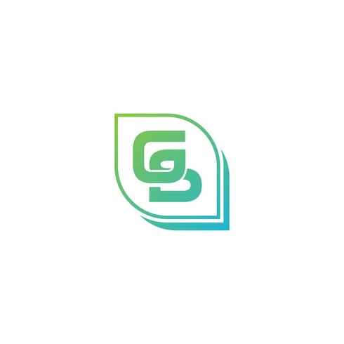 Elemento dell'icona dell'illustrazione di vettore del modello di logo iniziale della lettera GS