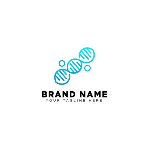elemento dell'icona dell'illustrazione di vettore del modello di progettazione di logo del DNA molecolare