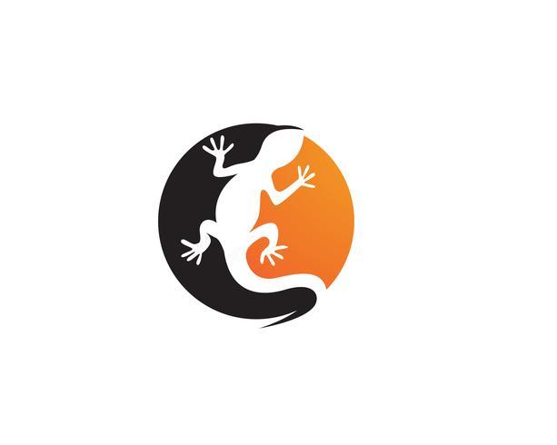 Modello di logo e simboli dell'icona di vettore della lucertola