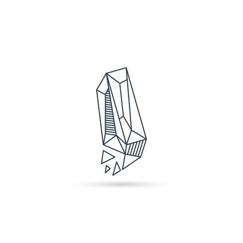 lettera di pietra preziosa lettera i logo design icona modello vettoriale elemento isolato