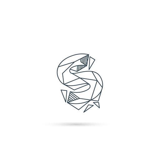 elemento di vettore del modello dell'icona di progettazione di logo della lettera della pietra preziosa isolata