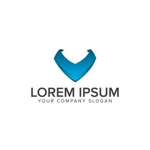 lettera v logo. Modello di concetto di progettazione di logo di tecnologia di Internet vettore