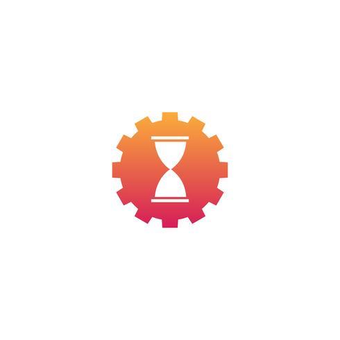 ingranaggio manutenzione industriale idea logo modello illustrazione vettoriale