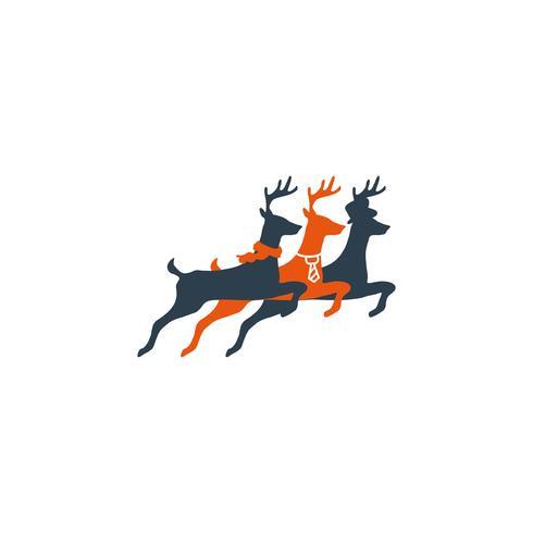 il cervo salta l'elemento creativo dell'icona dell'illustrazione di vettore del modello di logo