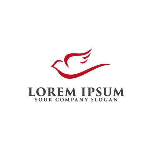 modello di concetto di progettazione logo colomba vettore