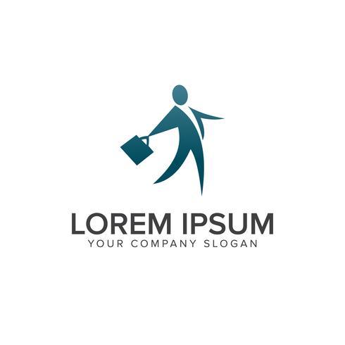 modello di concetto di design logo persone di affari vettore