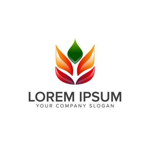 modello di concetto di foglia logo logo design vettore