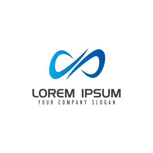 lettera x modello di concetto di design logo illimitato vettore