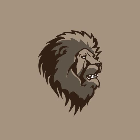 progettazione di vettore dell'illustrazione della testa del leone.