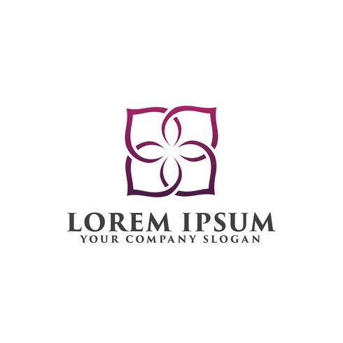 modello di concetto di progettazione di logo di decorazione floreale. vettore