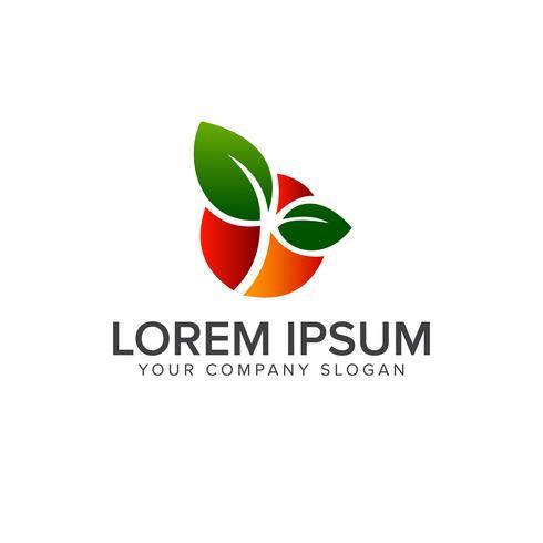 modello di concetto di frutta logo design vettore