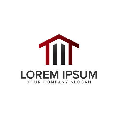 lettera M modello di concetto di design del logo immobiliare vettore