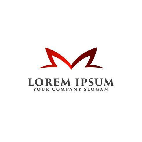 Modello di concetto di disegno di marchio di lusso lettera M vettore