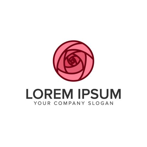 modello di concetto di fiore logo modello tulipano vettore