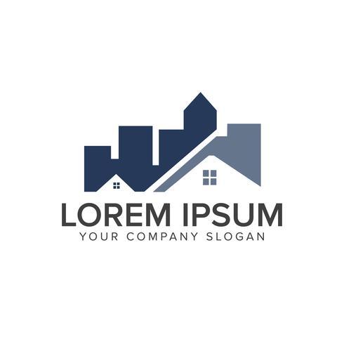 architettonico, costruzione, immobiliare e ipoteca logo desig vettore