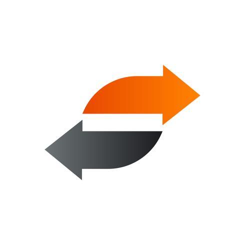 modello di concetto di disegno di logo di freccia s lettera s vettore