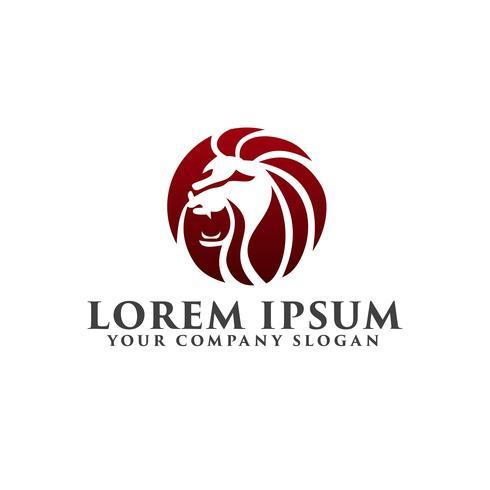 modello di concetto di progettazione logo di leone ruggito vettore