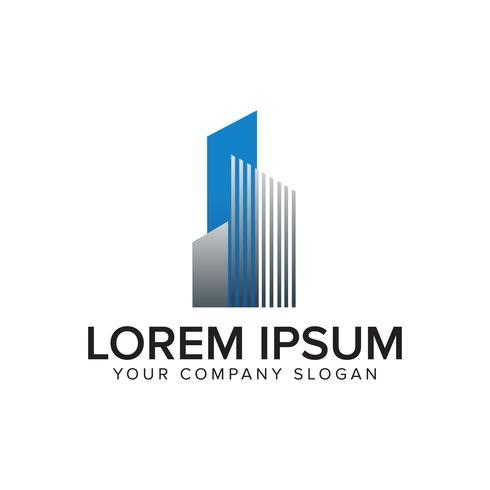 Logo architettonico, costruzione, logo immobiliare e mutuo vettore