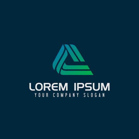 Lettera moderna Una tecnologia Logo modello di concetto di design vettore
