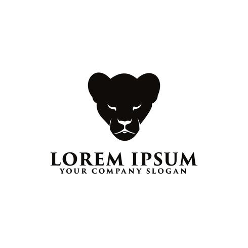 modello di concetto di design logo pantera nera vettore
