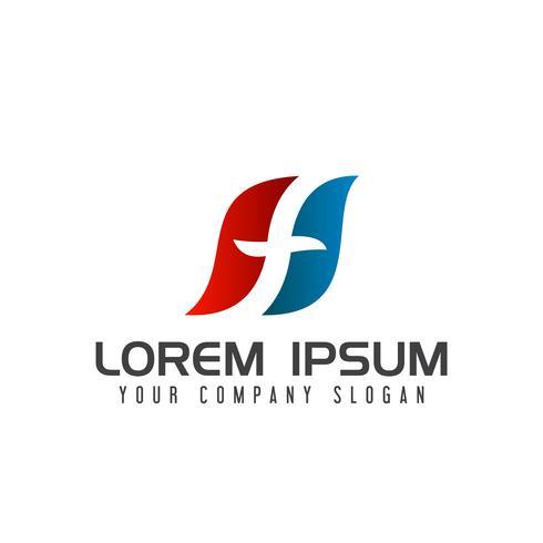 lettera f logo. modello di concetto di design logistico vettore