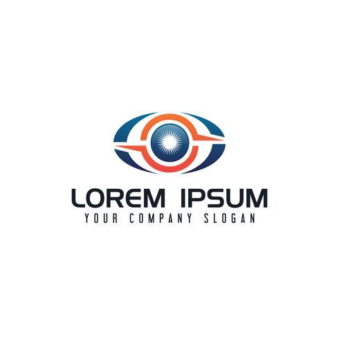 modello di concetto di progettazione di logo di tecnologia di occhio vettore