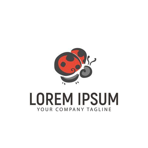 scarabeo disegnato a mano logo design concept template vettore