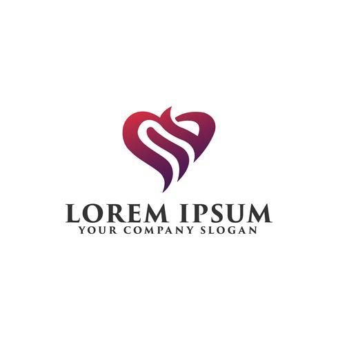 amore astratto Logo design concetto modello vettore