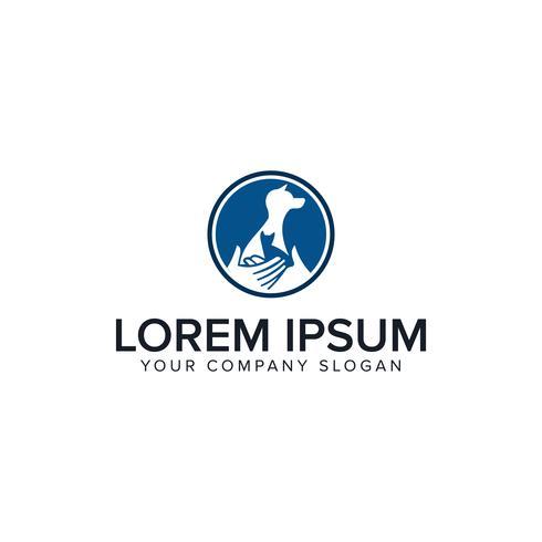 modello di concetto di design del logo di cura degli animali domestici vettore