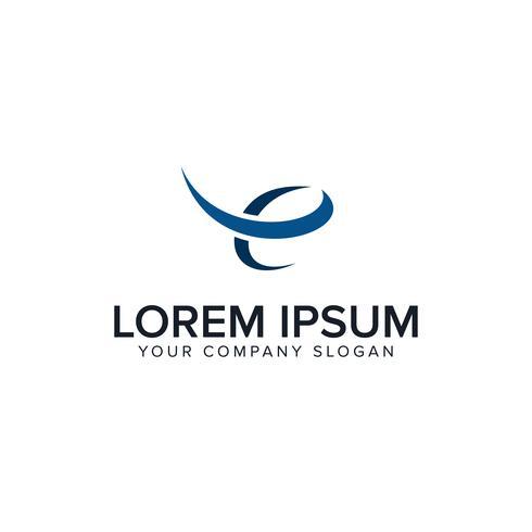 Logo della lettera E. modello di concetto di disegno di finanza aziendale vettore