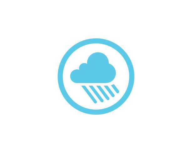 Icone di logo e simboli di dati di server cloud vettore