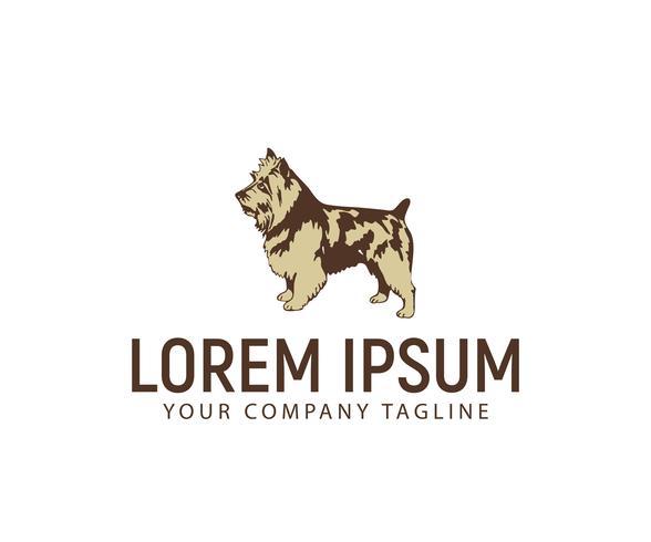Stand logo del cane. modello di concetto di design del logo del cane vettore