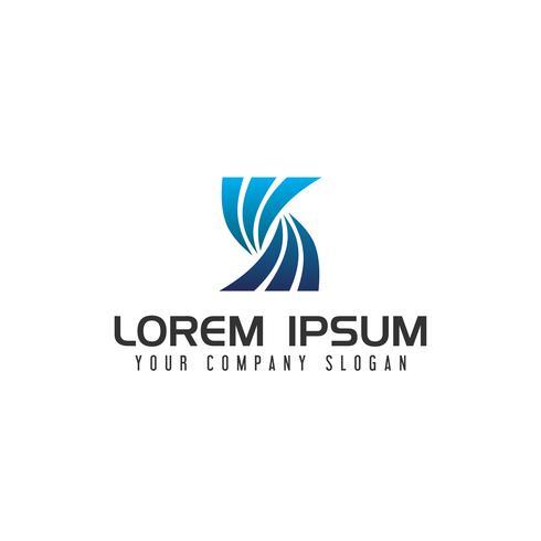 logo moderno lettera S. modello di concetto di design vettore