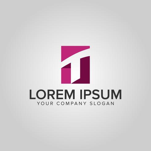 lettera T logo. modello di concetto di disegno di finanza aziendale vettore