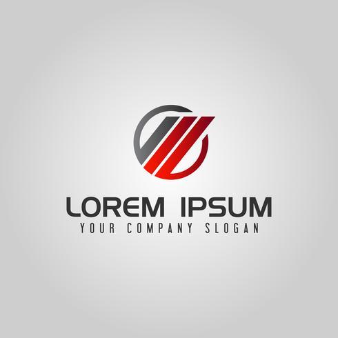 Modello astratto di concetto di progetto di logo di finanza di affari del cerchio vettore