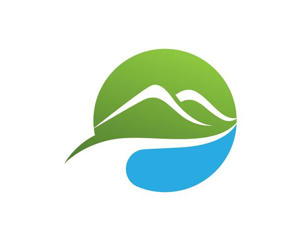 Vettore del modello di affari di logo della montagna