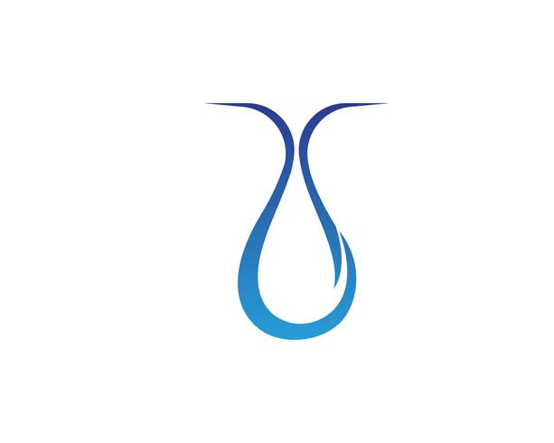 Progettazione dell'illustrazione di vettore del modello di logo della goccia di acqua - Vettore