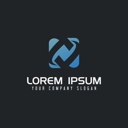 modello di concetto di disegno di lettera T tecnologia logo vettore