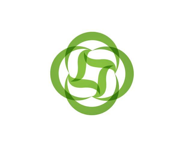 icona di vettore di foglia verde ecologia natura elemento
