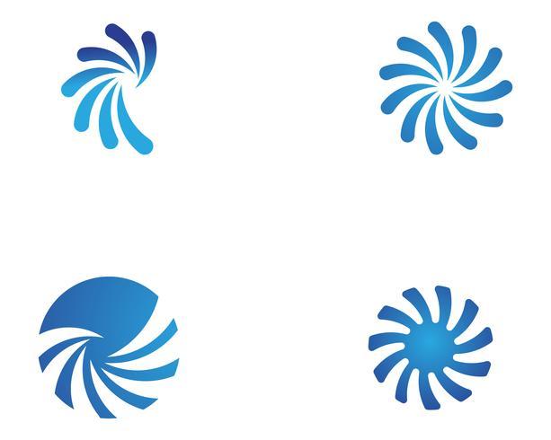 icone del modello logo e simboli cerchio vortice vettore