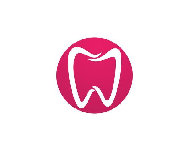 Icone del modello logo e simboli di cure odontoiatriche vettore